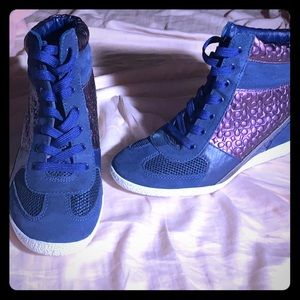 Coach sneakers w/wedge